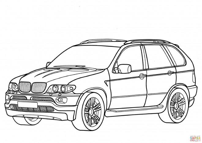 Coloriage et dessins gratuits BMW X7 à découper à imprimer