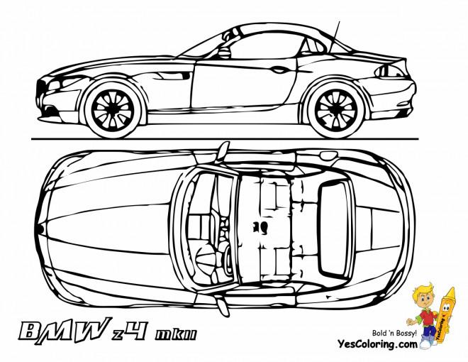 Coloriage et dessins gratuits BMW Z4 à décorer à imprimer