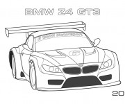 Coloriage BMW Z4 Gt3