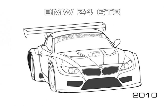 Coloriage et dessins gratuits BMW Z4 Gt3 à imprimer