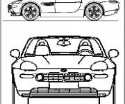 Coloriage BMW Z4 simple
