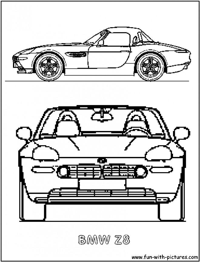 Coloriage et dessins gratuits BMW Z4 simple à imprimer