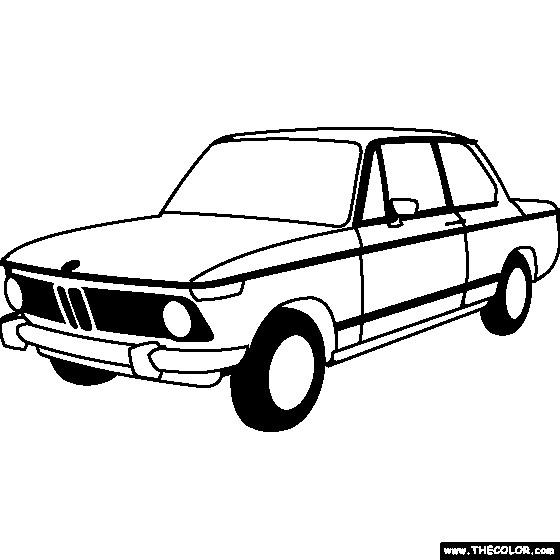 Coloriage et dessins gratuits Illustration de modèle BMW à imprimer