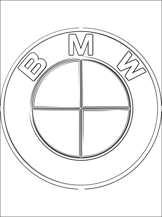 coloriage logo de voitures bmw dessin gratuit imprimer. Black Bedroom Furniture Sets. Home Design Ideas