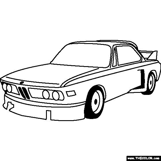 Coloriage et dessins gratuits Maison de voiture BMW e30 à imprimer