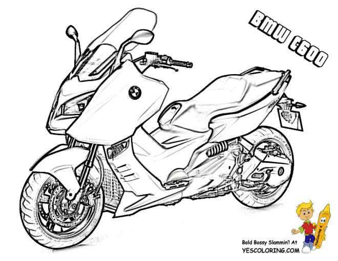 Coloriage et dessins gratuits Moto BMW C600 à imprimer