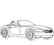 Coloriage et dessins gratuit Voiture BMW cabriolet à imprimer