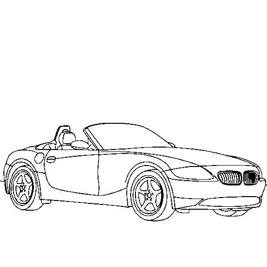 Coloriage et dessins gratuits Voiture BMW cabriolet à imprimer
