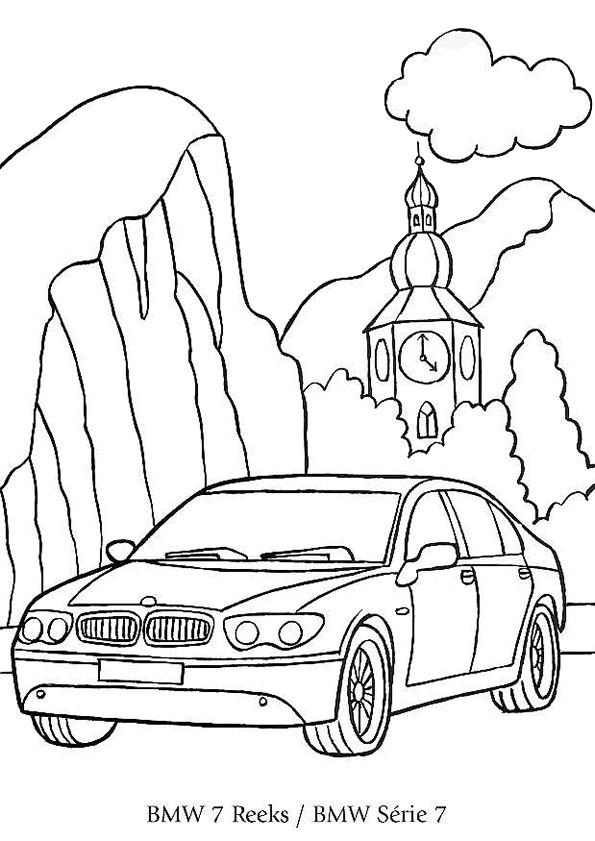 Coloriage et dessins gratuits Voiture BMW dans la Nature à imprimer