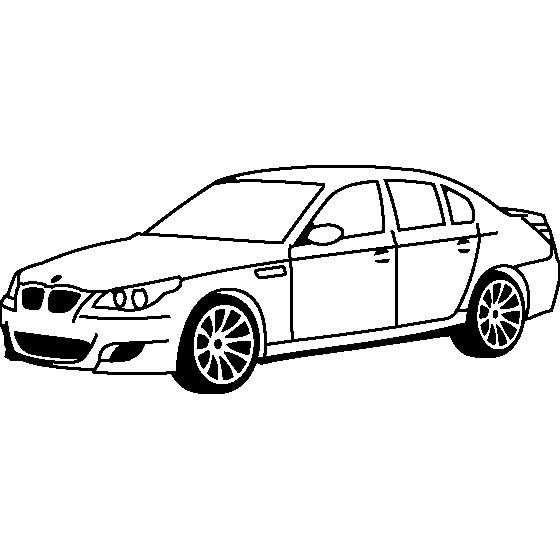 Coloriage et dessins gratuits Voiture BMW en noir et blanc à imprimer