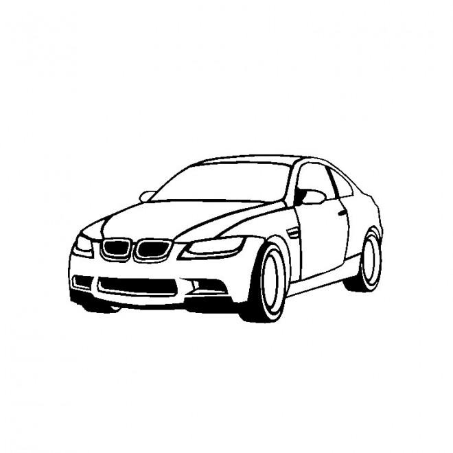 Coloriage Voiture BMW M3 dessin gratuit à imprimer