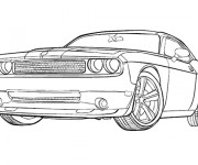 Coloriage Voiture Ford Mustang GT