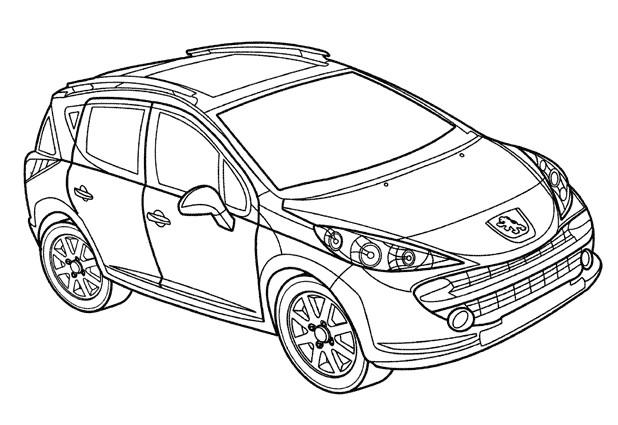 Coloriage et dessins gratuits Voiture Peugeot à imprimer