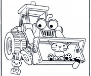 Coloriage Bob le bricoleur dessin animé