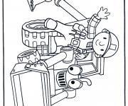Coloriage et dessins gratuit Bricoleur et Bulldozer à imprimer