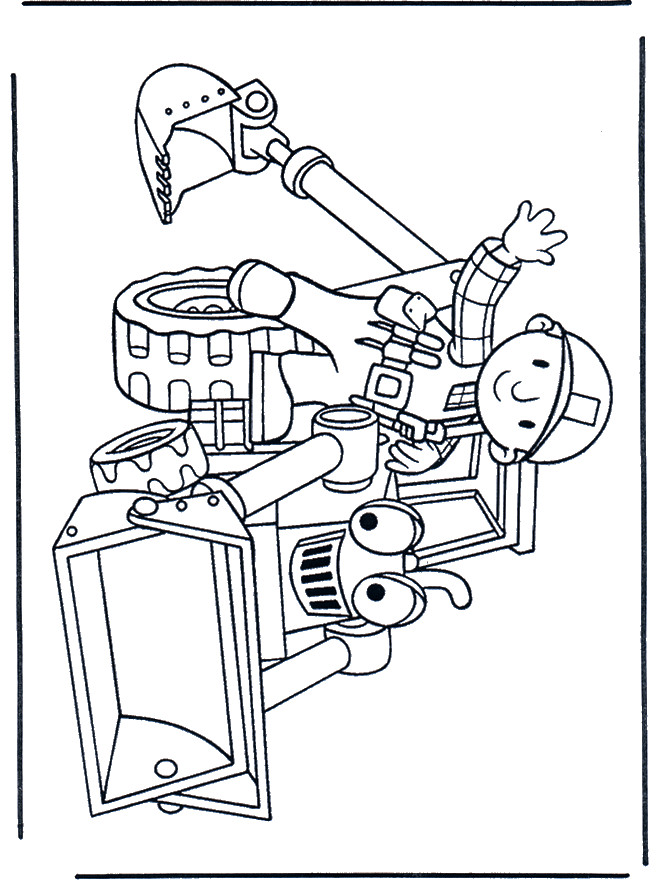 Coloriage et dessins gratuits Bricoleur et Bulldozer à imprimer