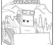 Coloriage Bulldozer Avalanche