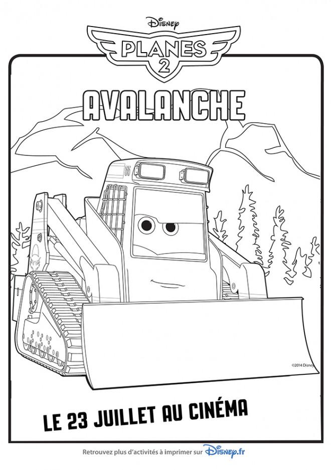Coloriage et dessins gratuits Bulldozer Avalanche à imprimer