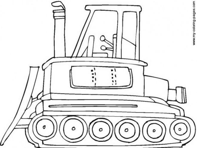 Coloriage et dessins gratuits Bulldozer en couleur à imprimer