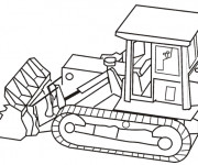 Coloriage et dessins gratuit Bulldozer en ligne à imprimer