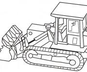 Coloriage Bulldozer en ligne