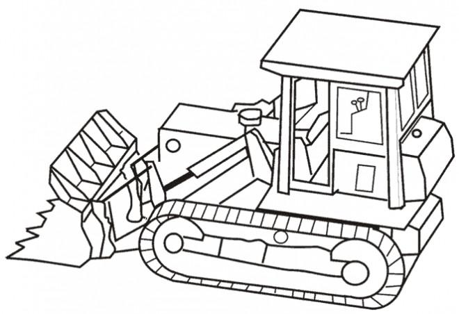 Coloriage et dessins gratuits Bulldozer en ligne à imprimer