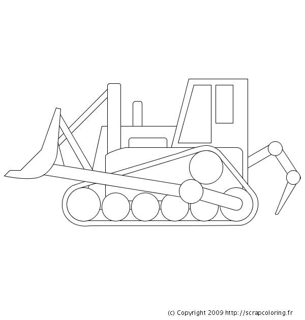 Coloriage et dessins gratuits Bulldozer facile à imprimer