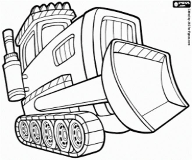 Coloriage et dessins gratuits Bulldozer maternelle à imprimer