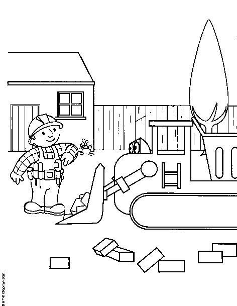 Coloriage et dessins gratuits Bulldozer pour enfant à imprimer