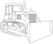 Coloriage Bulldozer stylisé pour les travaux