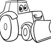 Coloriage et dessins gratuit Bulldozer tout souriant à imprimer