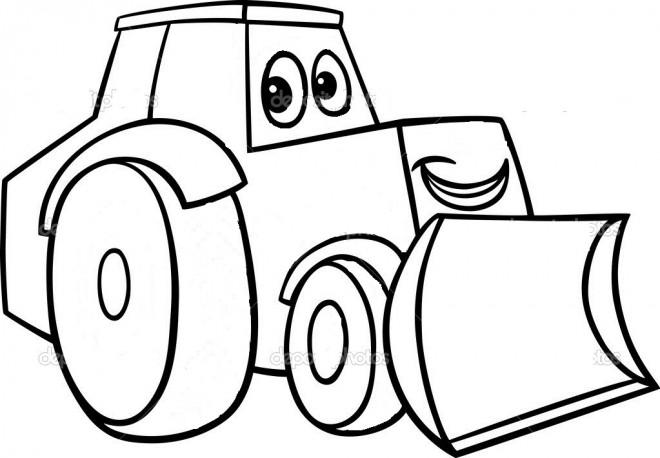 Coloriage et dessins gratuits Bulldozer tout souriant à imprimer