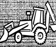 Coloriage Bulldozer vectoriel à découper