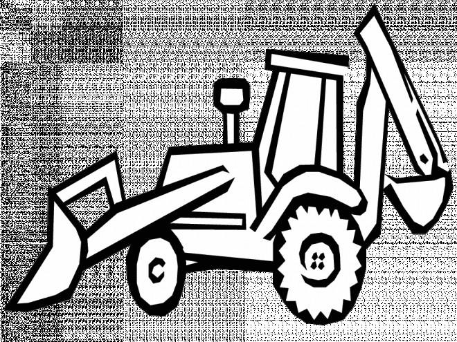 Coloriage et dessins gratuits Bulldozer vectoriel à découper à imprimer