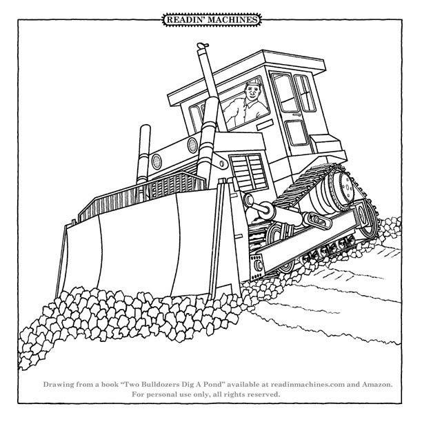 Coloriage et dessins gratuits Bulldozer véhicule de travaux à imprimer