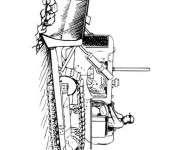 Coloriage Tracteur à chenilles à découper