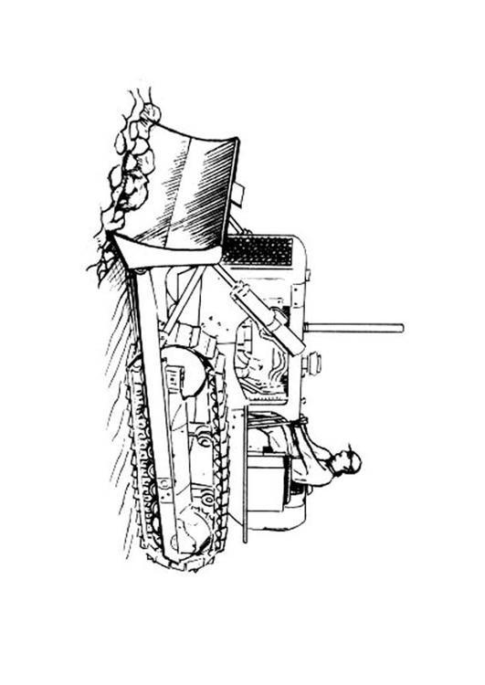 Coloriage tracteur chenilles d couper - Coloriage tractopelle a imprimer gratuit ...