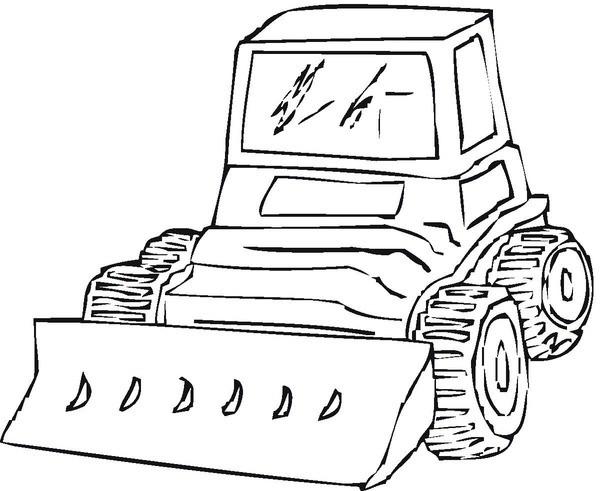 Coloriage Tracteur manitou dessin gratuit à imprimer