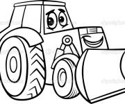 Coloriage Tracteur mignon