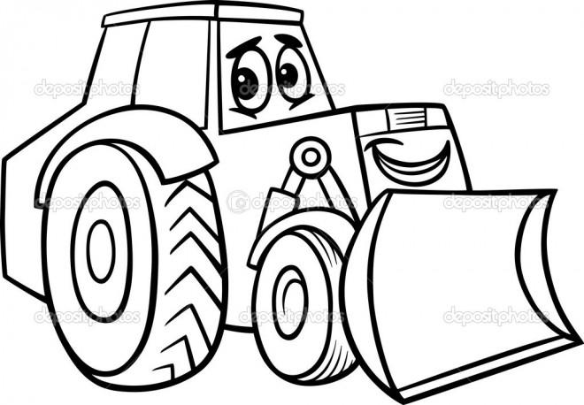Coloriage et dessins gratuits Tracteur mignon à imprimer