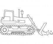 Coloriage et dessins gratuit Un Tractopelle à télécharger à imprimer