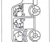 Coloriage et dessins gratuit Autobus d'animaux à imprimer
