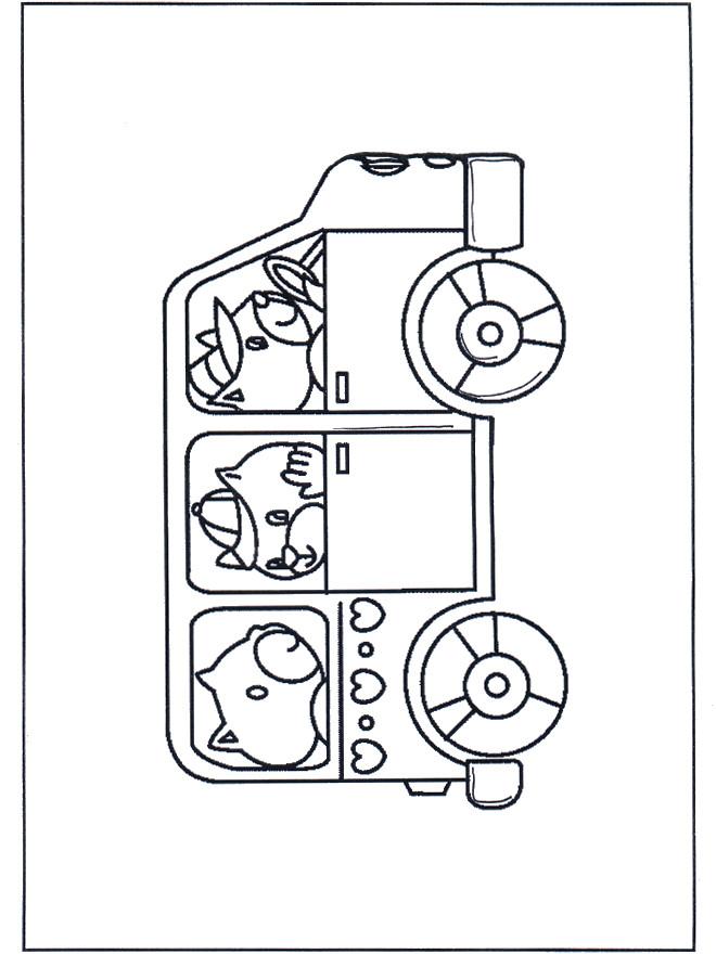 Coloriage et dessins gratuits Autobus d'animaux à imprimer