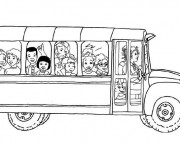 Coloriage Bus Enfant