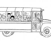 Coloriage et dessins gratuit Autobus d'école à imprimer