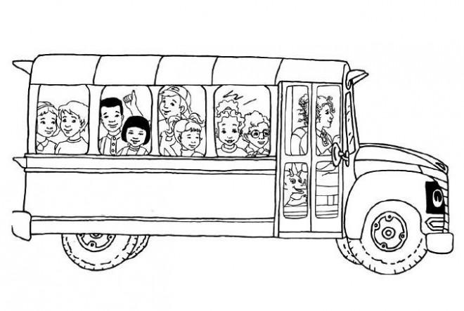 Coloriage et dessins gratuits Autobus d'école à imprimer