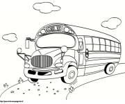 Coloriage et dessins gratuit Autobus scolaire en route à imprimer