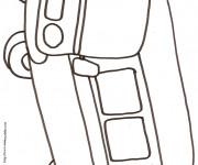 Coloriage et dessins gratuit Autocar au crayon facile à imprimer