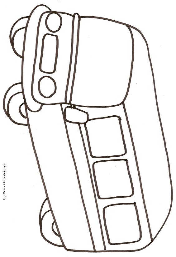 Coloriage et dessins gratuits Autocar au crayon facile à imprimer