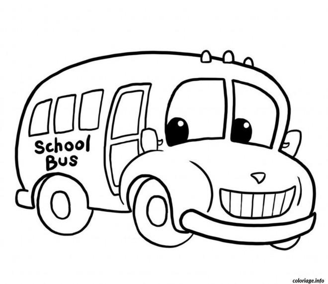Coloriage et dessins gratuits Bus d'enfant tout heureux à imprimer